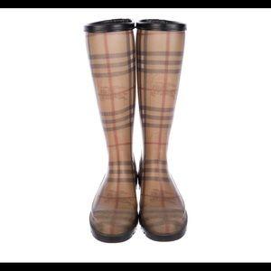 BURBERRY Haymarket Check Pattern Rain Boots